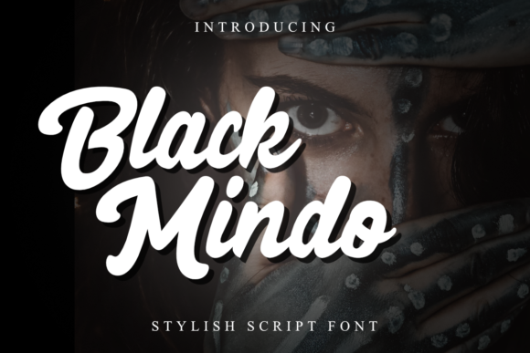 Black Mindo Display Font By rudhisasmito
