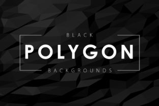 Black Polygon Backgrounds Graphic By ArtistMef