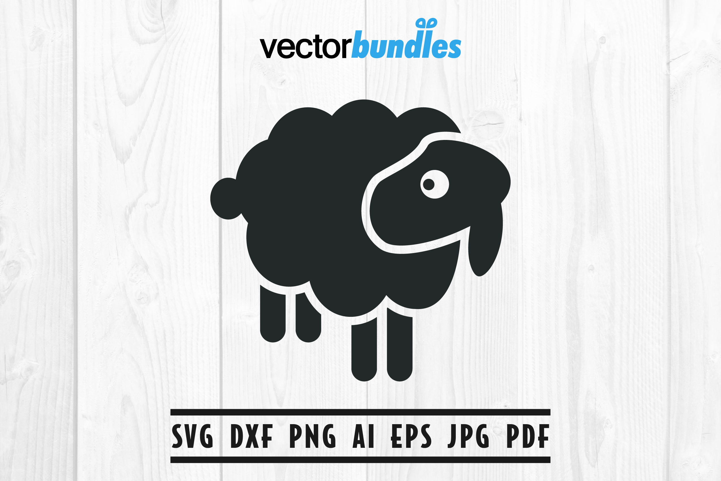 Download Free Black Sheep Clip Art Svg Graphic By Vectorbundles Creative Fabrica for Cricut Explore, Silhouette and other cutting machines.