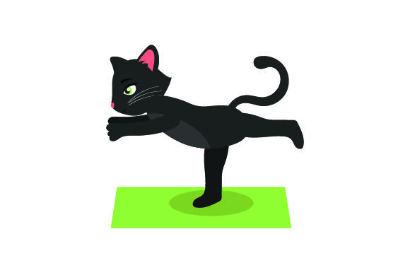 Download Free Black Cat Doing Yoga Svg Cut File By Creative Fabrica Crafts for Cricut Explore, Silhouette and other cutting machines.
