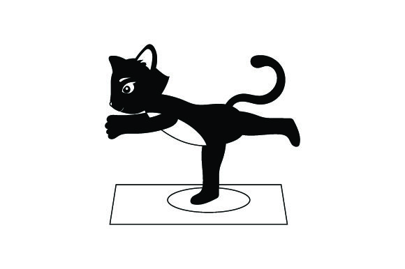 Black Cat Doing Yoga Animals Craft Cut File By Creative Fabrica Crafts - Image 2
