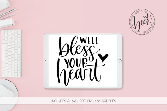 Bless Your Heart Graphic By Beckmccormick Creative Fabrica
