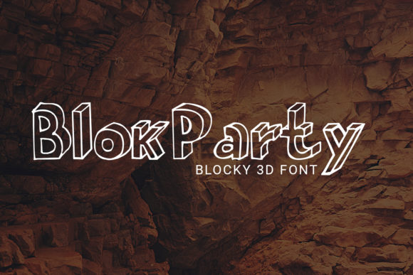 Print on Demand: BlokParty Decorative Font By Craft-N-Cuts