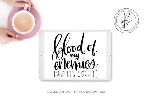 Download Free Blood Of My Enemies Graphic By Beckmccormick Creative Fabrica for Cricut Explore, Silhouette and other cutting machines.