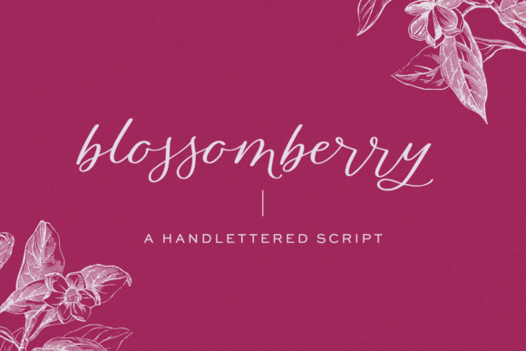 Print on Demand: Blossomberry Script & Handwritten Font By BeckMcCormick - Image 1