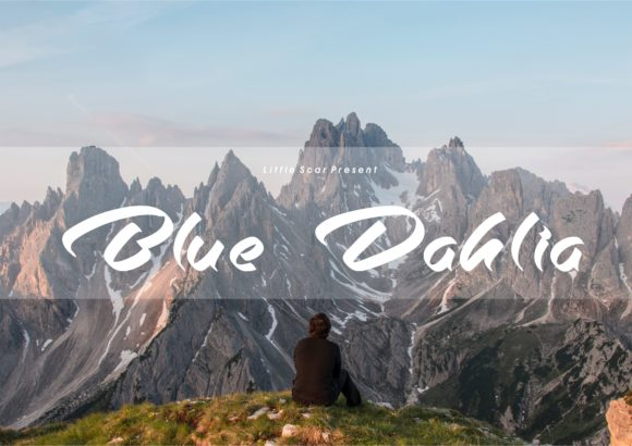 Print on Demand: Blue Dahlia Script & Handwritten Font By little scar