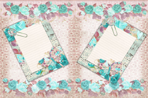 Print on Demand: Blue Lady Scrapbooking or Journaling Kit Graphic Crafts By The Paper Princess - Image 2