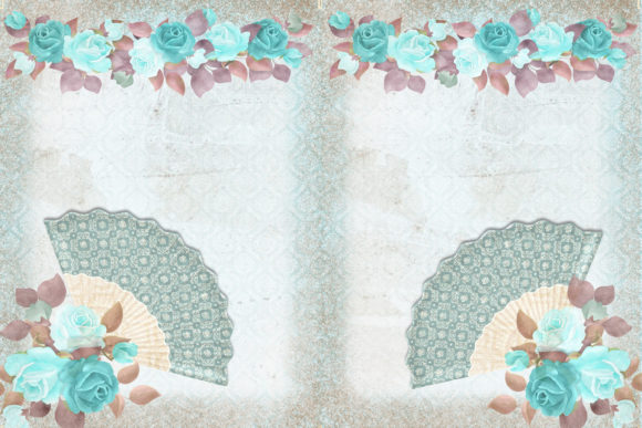 Print on Demand: Blue Lady Scrapbooking or Journaling Kit Graphic Crafts By The Paper Princess - Image 3