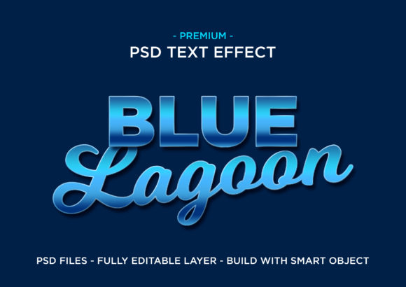 Print on Demand: Blue Lagoon PSD Text Layer Style Graphic Layer Styles By eddyinside