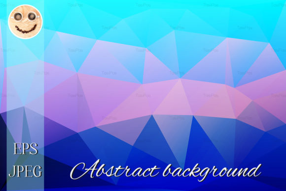 Print on Demand: Blue Shades Pink Low Poly Background Graphic Illustrations By TasiPas