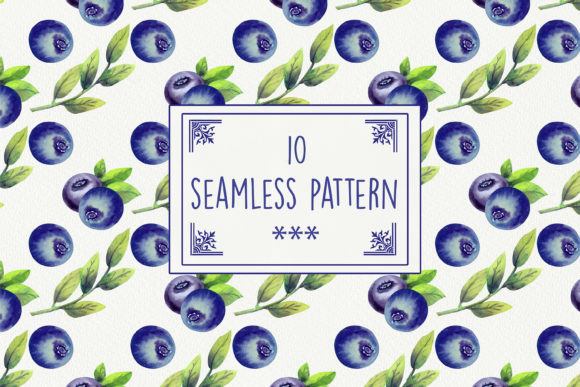 Print on Demand: Blueberry Explosion 10 Seamless Patterns Graphic Illustrations By Natika_art