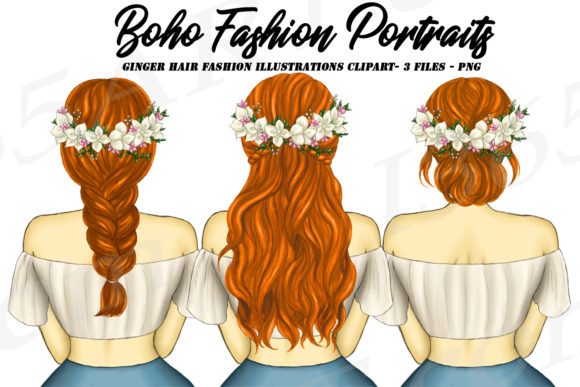 Download Free Boho Fashion Ginger Redhead Graphic By Deanna Mcrae Creative Fabrica for Cricut Explore, Silhouette and other cutting machines.