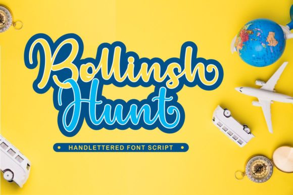 Print on Demand: Bollinsh Hunt Script & Handwritten Font By Ditoollis Project
