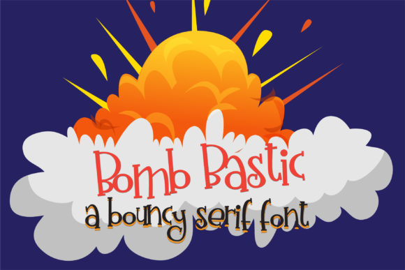Print on Demand: Bomb Bastic Serif Font By Illustration Ink