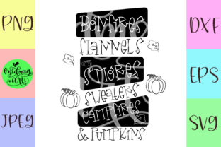 Bonfires Flannels S'mores Sweaters Graphic Objects By MidmagArt 2