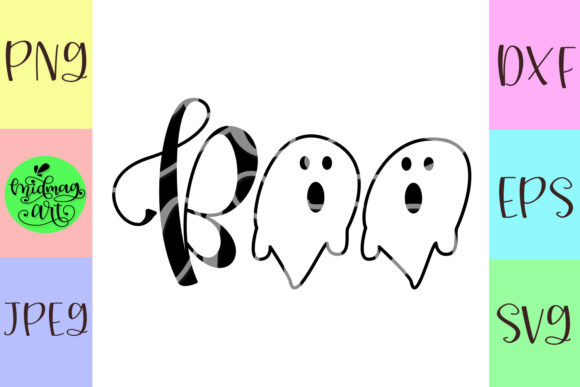 Boo Halloween Svg Graphic Objects By MidmagArt - Image 2