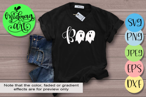 Boo Halloween Graphic Objects By MidmagArt - Image 1