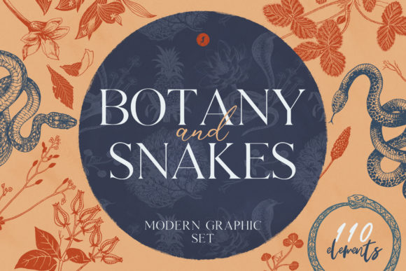 Print on Demand: Botany and Snakes Graphic Illustrations By freezerondigital