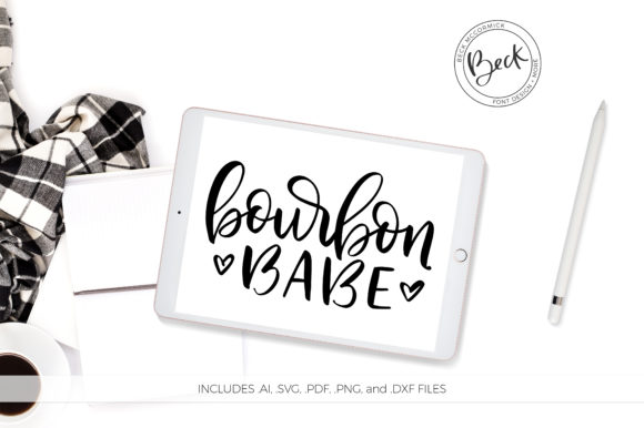 Download Free Bourbon Babe Graphic By Beckmccormick Creative Fabrica for Cricut Explore, Silhouette and other cutting machines.