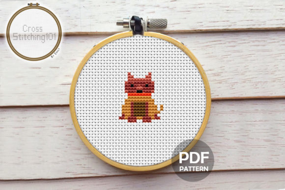 Download Free Boxer Dog Mini Modern Cross Stitch Graphic By Crossstitching101 for Cricut Explore, Silhouette and other cutting machines.
