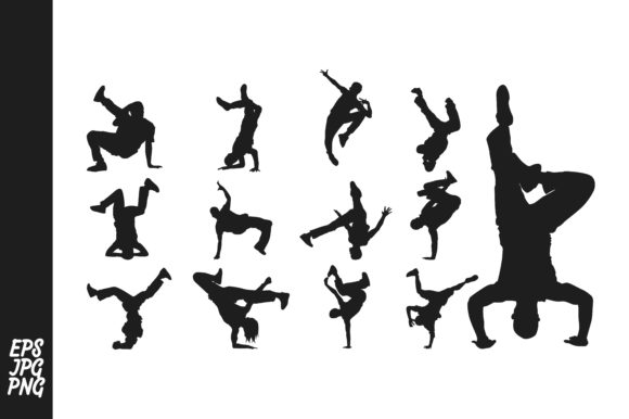 Print on Demand: Breakdance - Hip Hop Silhouette Bundle Graphic Crafts By Arief Sapta Adjie