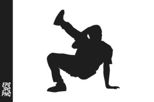 Download Free Breakdance Hip Hop Silhouette Graphic By Arief Sapta Adjie for Cricut Explore, Silhouette and other cutting machines.
