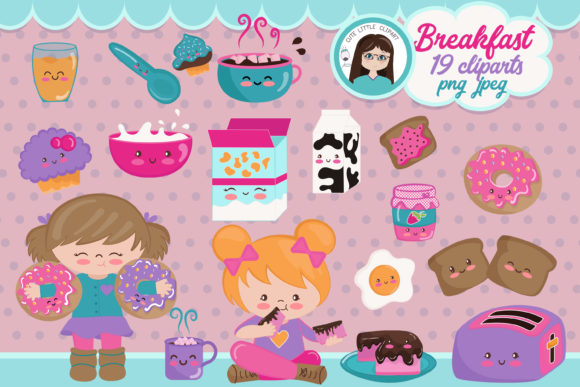 Download Free Breakfast Time Kawaii Clipart Graphic By Cutelittleclipart for Cricut Explore, Silhouette and other cutting machines.