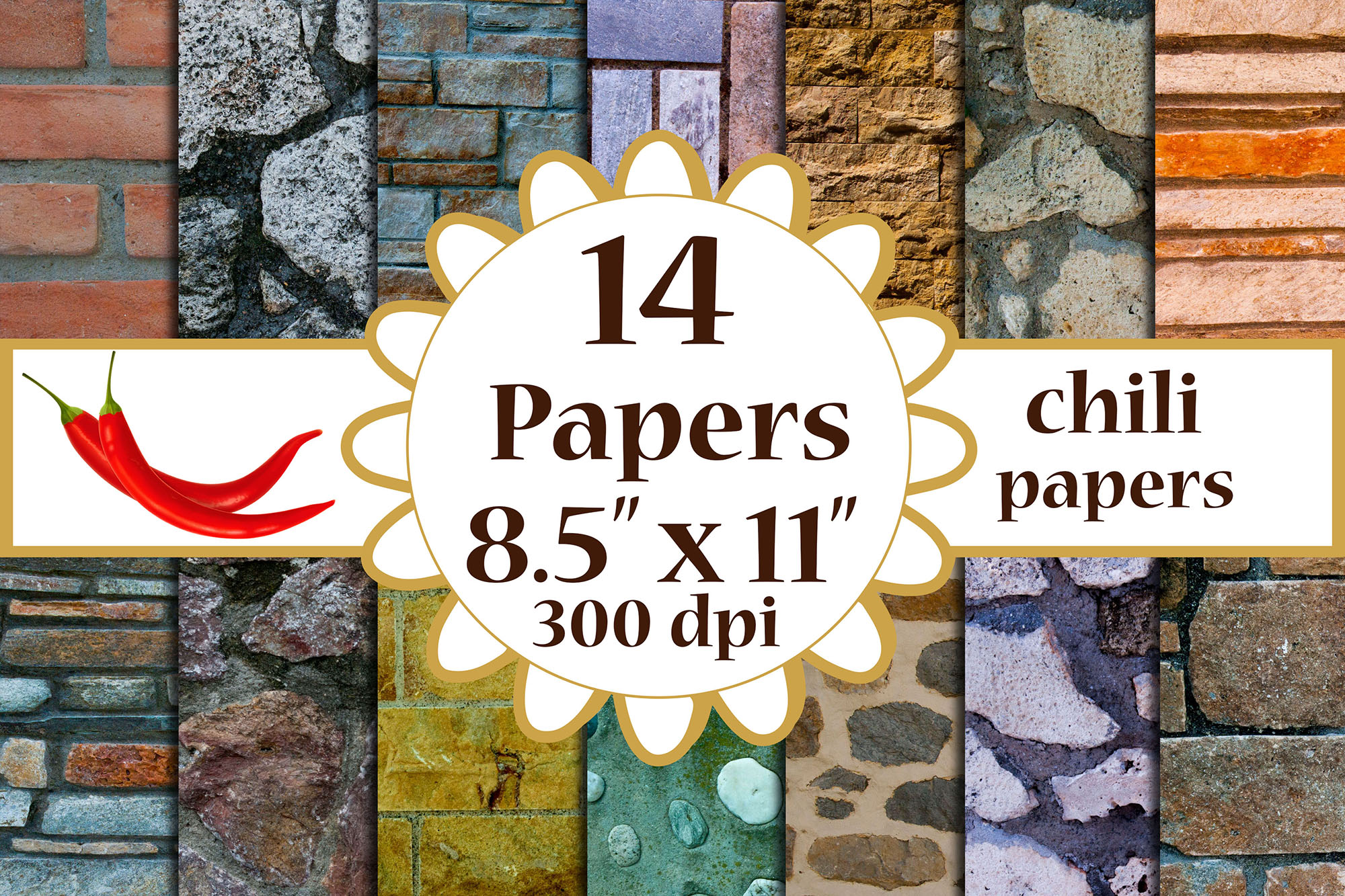 Download Free Brick Digital Paper Graphic By Chilipapers Creative Fabrica for Cricut Explore, Silhouette and other cutting machines.