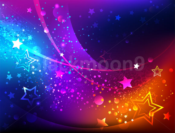 Bright Abstract Background with Stars Graphic Backgrounds By Blackmoon9
