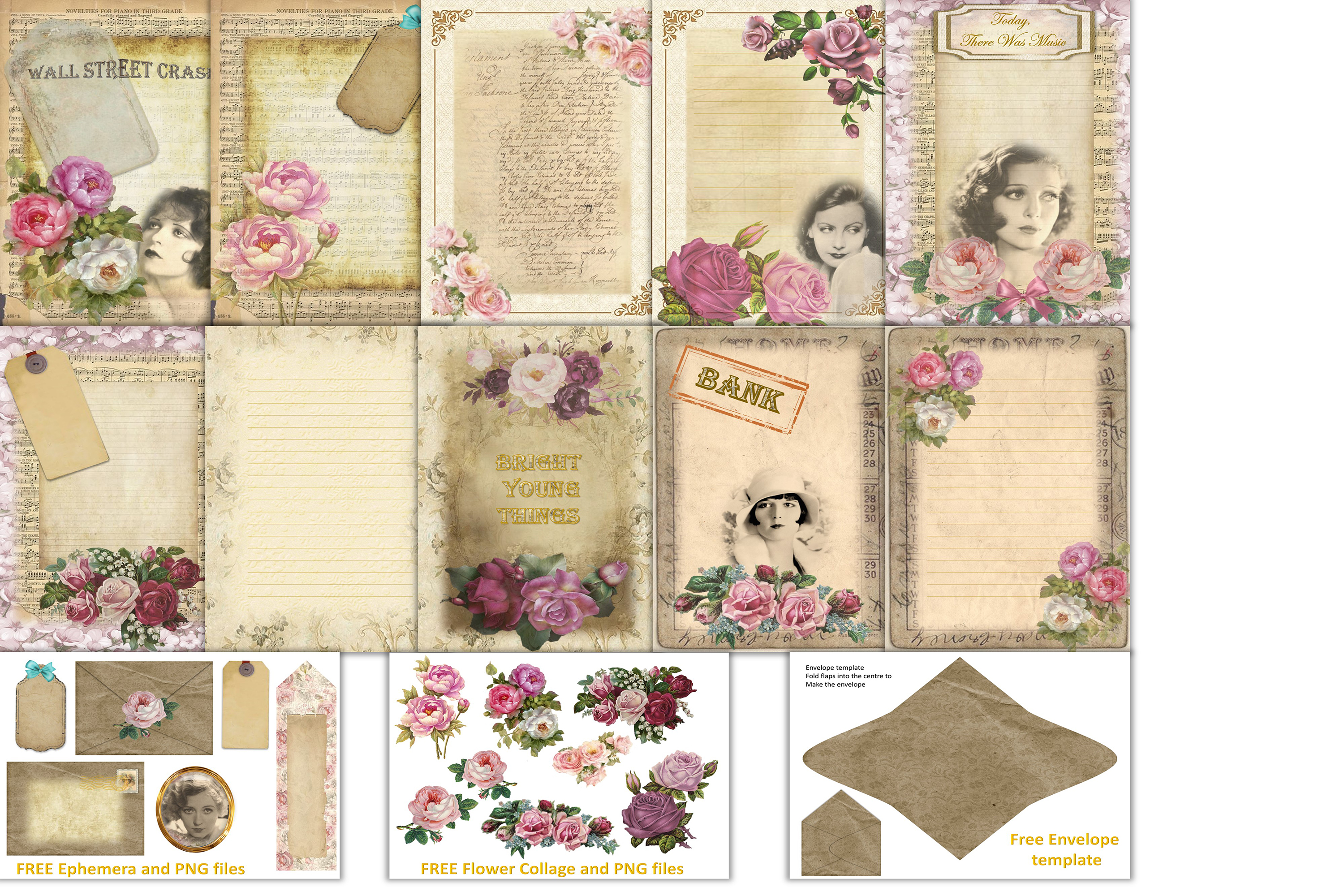 Download Free Bright Young Things Scrapbooking Kit Graphic By The Paper for Cricut Explore, Silhouette and other cutting machines.