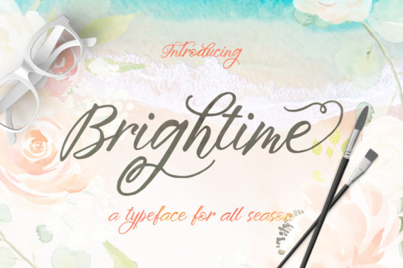 Print on Demand: Brightime Script & Handwritten Font By Stripes Studio