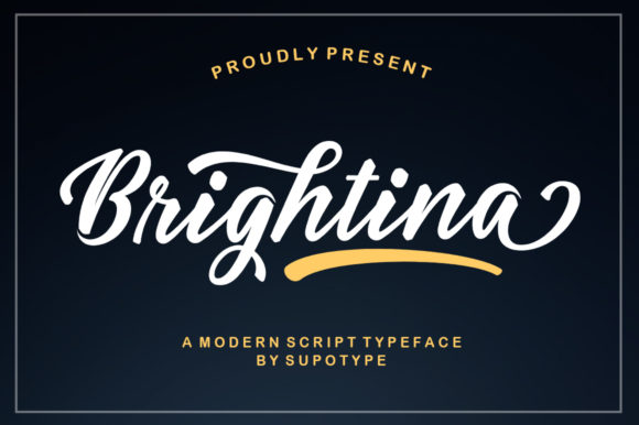 Print on Demand: Brightina Script Script & Handwritten Font By supotype