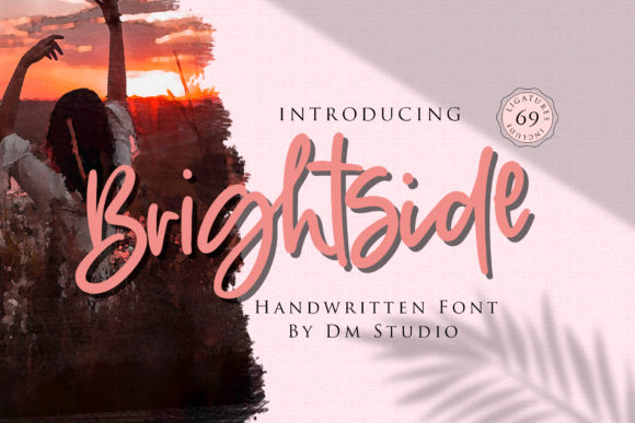 Print on Demand: Brightside Script & Handwritten Font By dmletter31