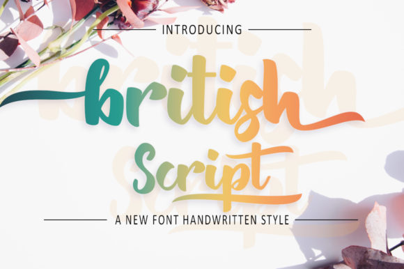 Print on Demand: British Script & Handwritten Font By zulkhairilettering - Image 1