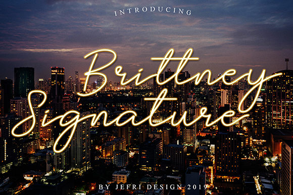 Print on Demand: Brittney Signature Script & Handwritten Font By Bluestype Studio
