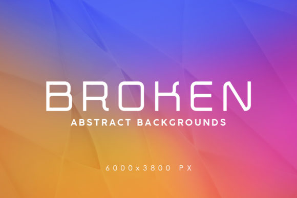 Print on Demand: Broken Abstract Backgrounds Graphic Backgrounds By ArtistMef