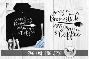 Broomstick Runs on Coffee Halloween Graphic By Jessica Maike