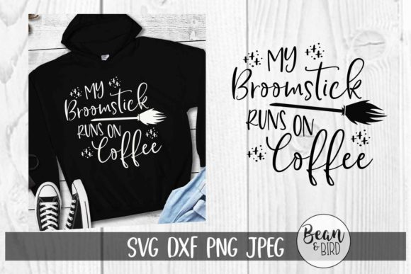 Print on Demand: Broomstick Runs on Coffee Halloween Graphic Crafts By Jessica Maike
