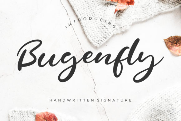 Print on Demand: Bugenfly Script & Handwritten Font By CreatypeStudio