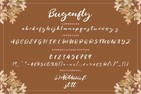 Print on Demand: Bugenfly Script & Handwritten Font By CreatypeStudio - Image 7