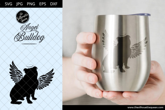 Bulldog #2 with Wings Graphic Crafts By thesilhouettequeenshop