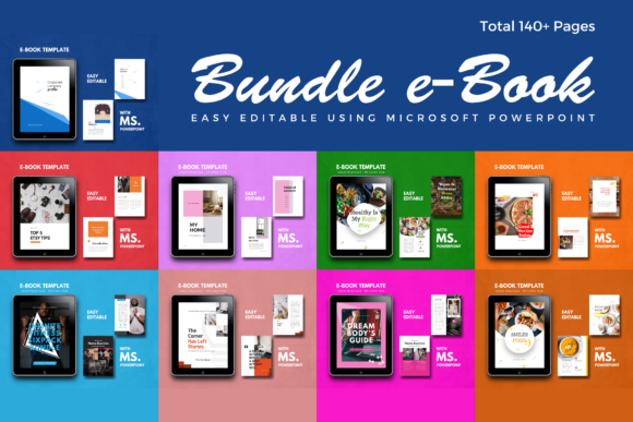 Bundle EBook Template PowerPoint Graphic By rivatxfz