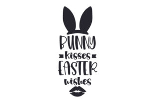 Bunny Kisses, Easter Wishes Craft Design By Creative Fabrica Crafts