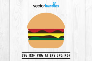 Download Free Burger Clip Art Svg Graphic By Vectorbundles Creative Fabrica for Cricut Explore, Silhouette and other cutting machines.