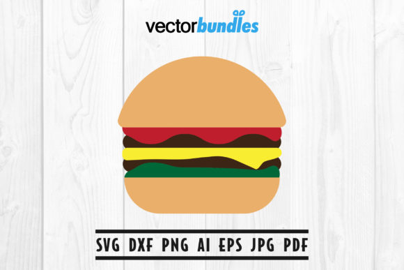 Burger Clip Art Svg Graphic By Vectorbundles Creative Fabrica
