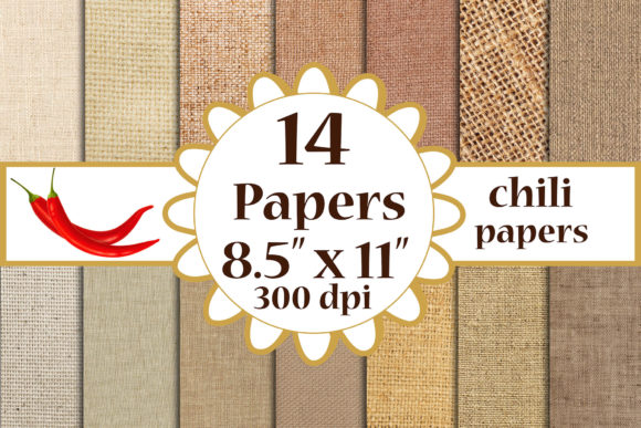 Burlap Digital Paper Graphic Crafts By ChiliPapers