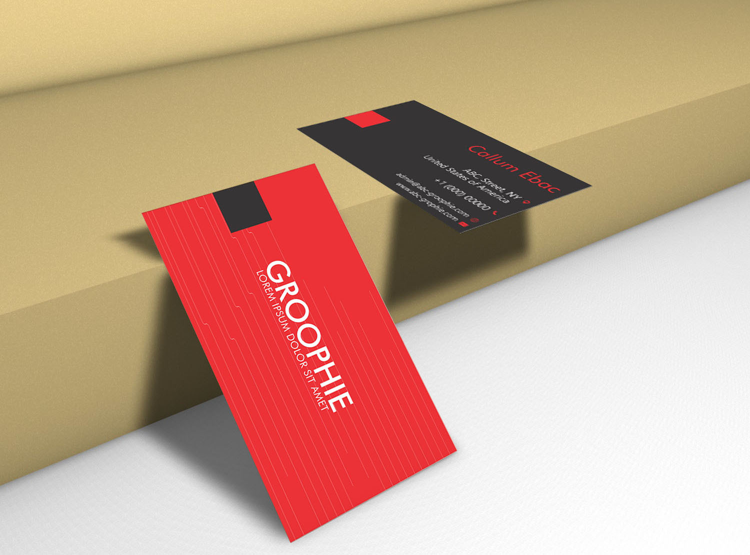 Business Card Mockup Double Sided Graphic By Patternhousepk