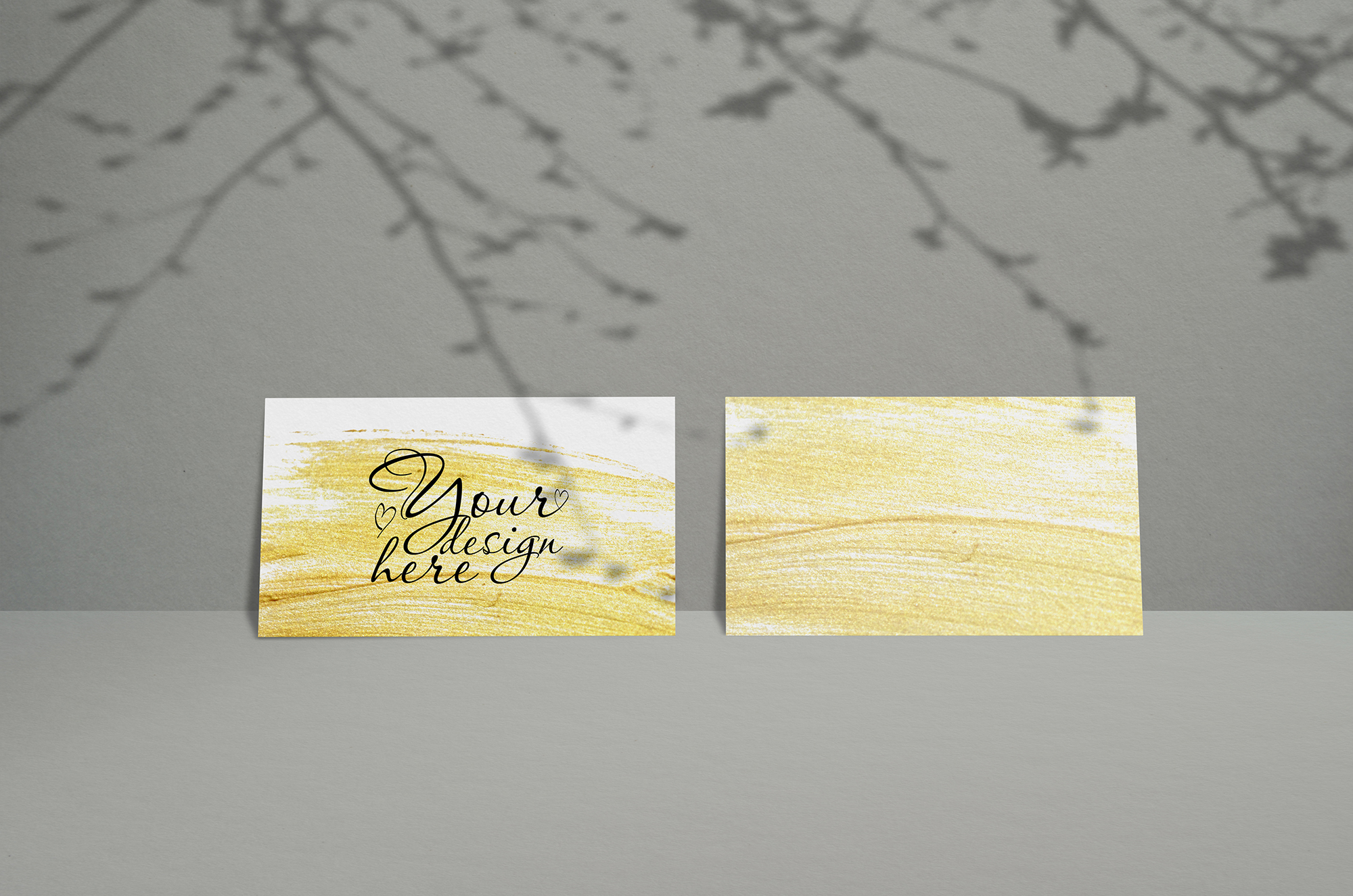 Download Free Business Card Mockup With Shadows Graphic By Natalia Arkusha SVG Cut Files