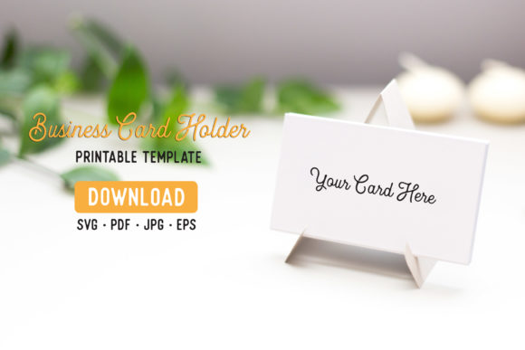 Download Free Business Card Stand Template Graphic By The Gradient Fox for Cricut Explore, Silhouette and other cutting machines.