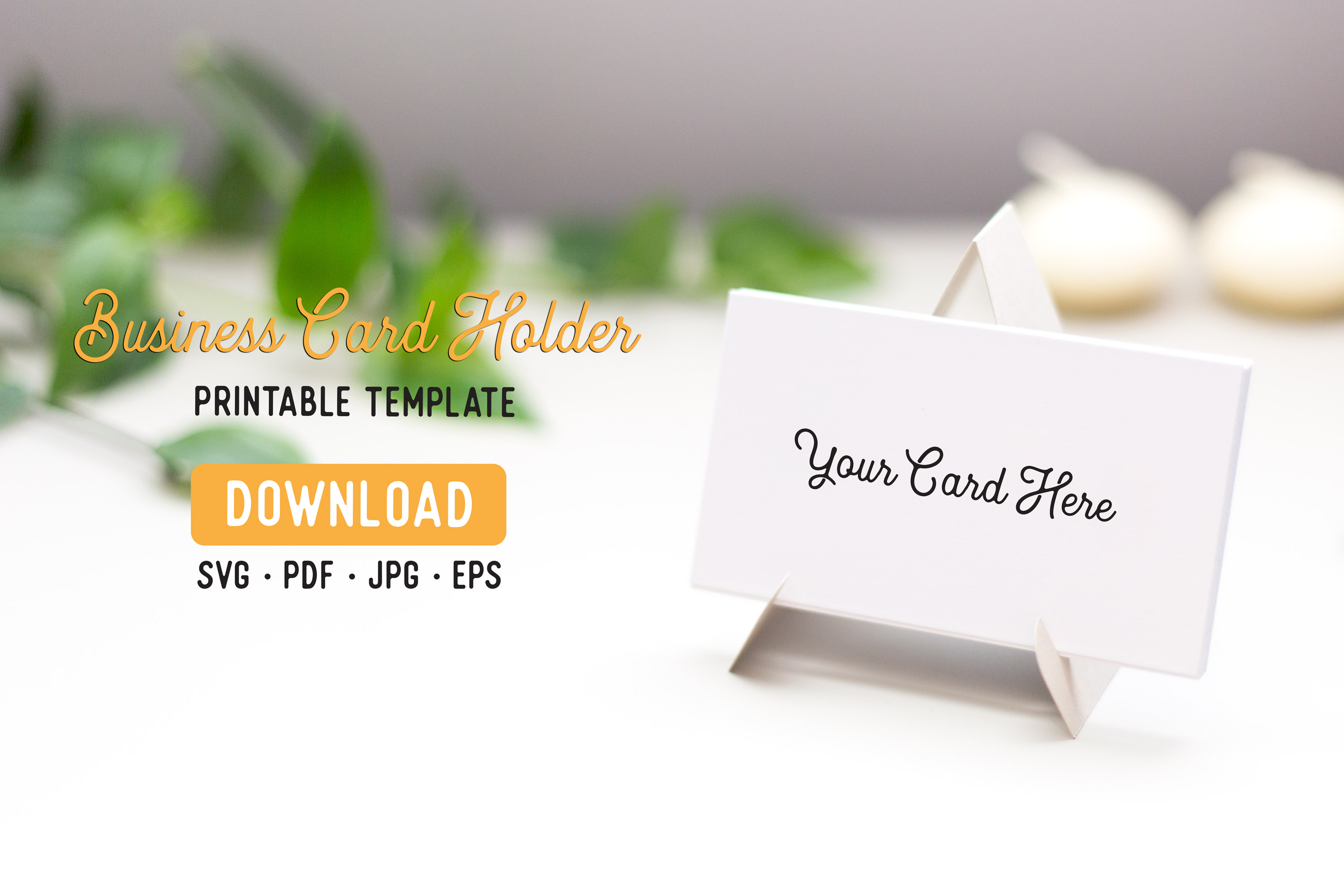 Business Card Stand Template Graphic by The Gradient Fox With Card Stand Template